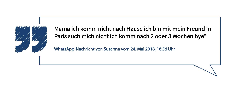 Der Fall Susanna Chronologie Eines Verbrechens Vrm Stories