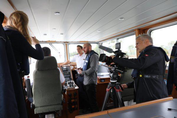 Dreh auf dem Schiff der Wasserschutzpolizei