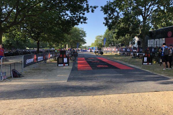 Der längste Tag: Stefan Dietz beim Ironman Germany in Frankfurt.