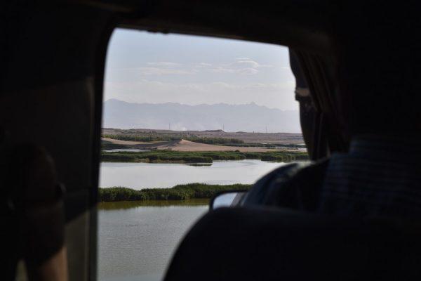 Blick auf die Wüste um Yazd.