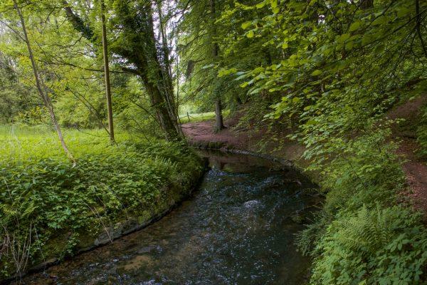 Etwas weiter, nach der Kaisermühle, beginnt in Eberstadt der schönste Uferweg, den die Modau hat.