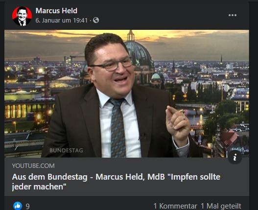 (Screenshot: facebook.com/mdbmarcus.held)