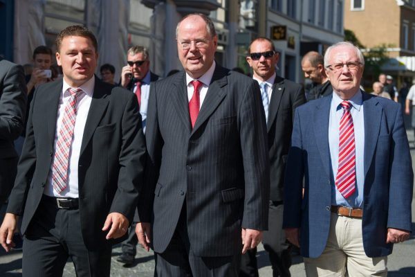 Mit Peer Steinbrück in Worms (Foto: Pakalski)