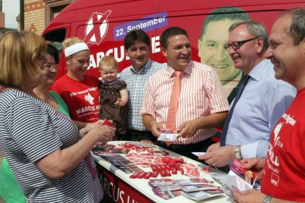 Auf Wahlkampftour durchs Alzeyer Land (Foto: Schmitz)