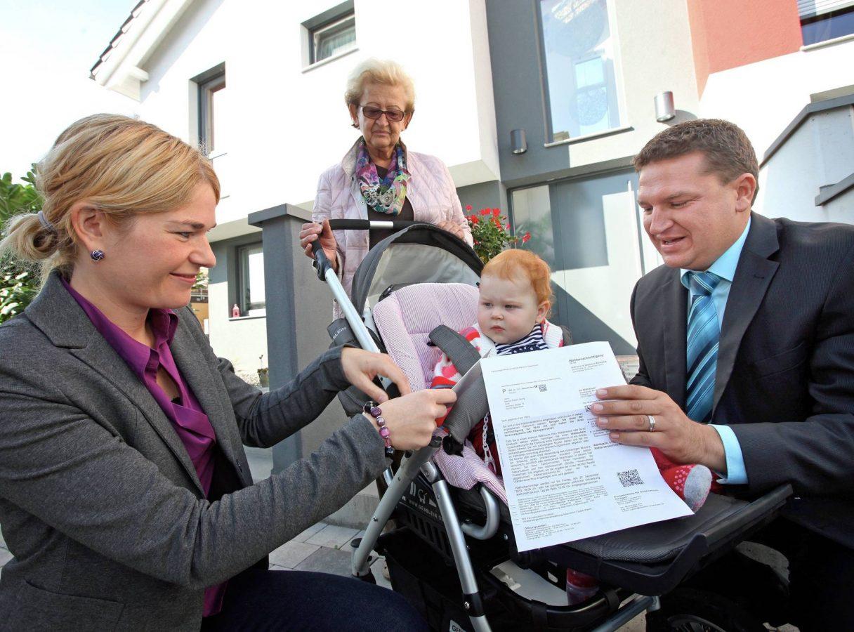 Mit der Familie zur Bundestagswahl 2013 (Foto: hbz/Bahr)