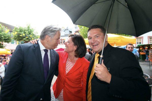 Mit Ministerpräsidentin Malu Dreyer und Klaus Wowereit (Foto: hbz/Bahr)