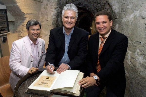 Mit dem prominenten Historiker und Autor Guido Knopp (Foto: hbz/Bahr)